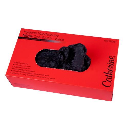 Перчатки нитрил, черные