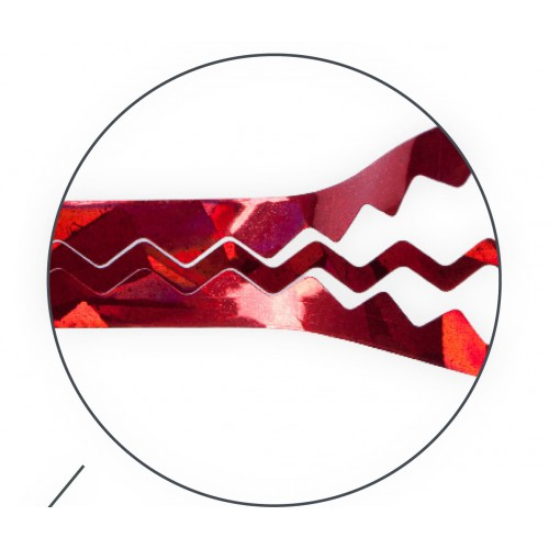 Лента Nail Art Tape Wave серебряная
